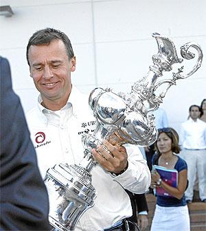 Ernesto Bertarelli, patron de Alinghi. (Foto: José Cuéllar)
