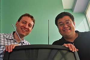Beat Knecht y Sugih Jamin, fundadores de Zattoo. (Foro: Zattoo)