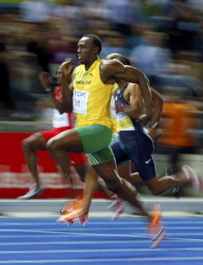 Usain Bolt es la viva imagen de la velocidad
