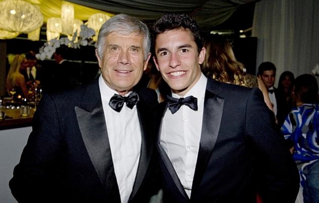 Agostini (72) y Márquez (21), en los últimos premios Laureus.