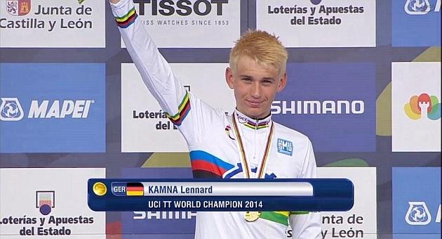 El alemán Lennard Kamna domina en la contrarreloj júnior del Mundial
