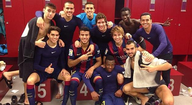 El Barça presume de cantera