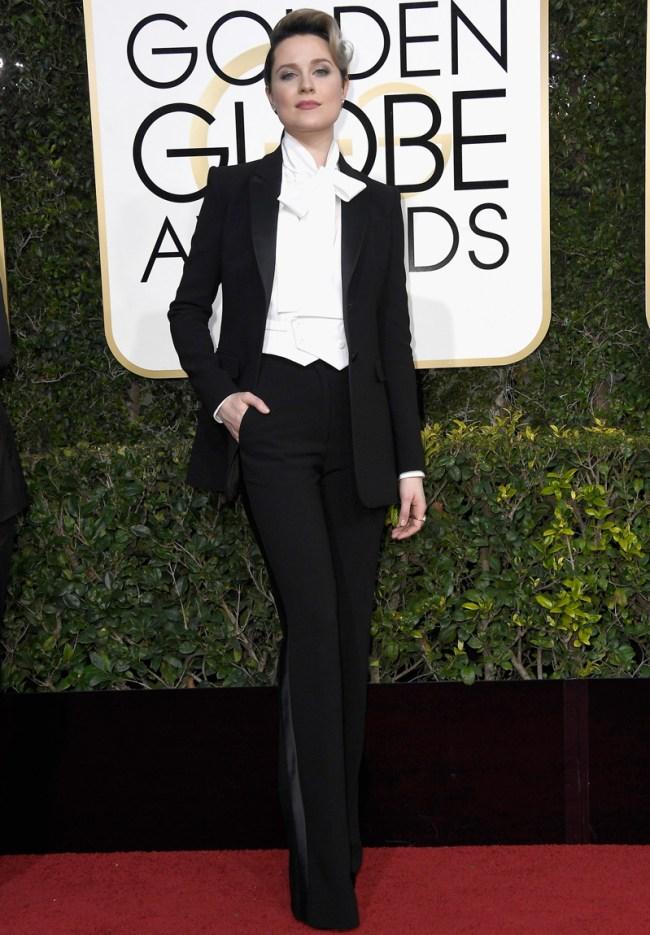 Resultado de imagen de globos de oro 2017 Evan Rachel Wood