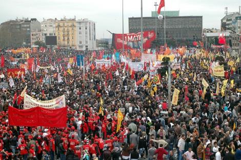 La plaza de Taksim en Estambul, el 1 de mayo de 2011. Foto: I.U.T.