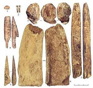 Algunas herramientas de los humanos modernos. (Foto: Science)