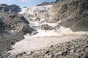 El glaciar de Suretta es el que más ha retrocedido. (Foto: Academia Suiza de Ciencias)