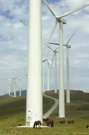 Aerogeneradores en el monte Oiz, Vizcaya. (Foto: El Mundo)