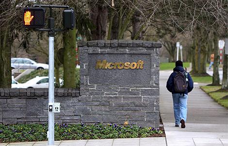 UNa de las entradeas a la sede de Microsoft en Redmond. | Efe