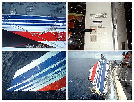 Restos recuperados del Airbus. | Efe