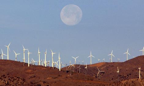 Un parque eólico situado en California (EEUU). | Reuters
