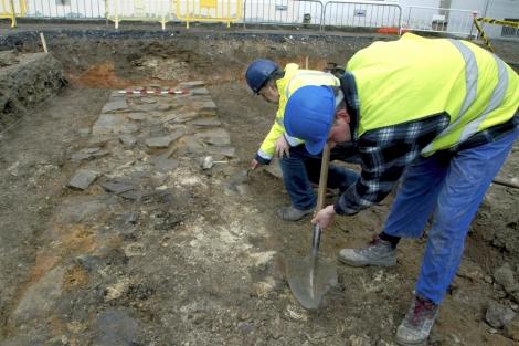 El hallazgo se produjo al hilo de una obras en una plaza de la ciudad. | E.T.
