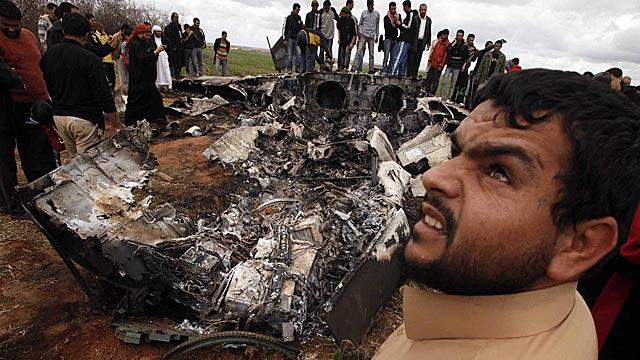 Los restos del aparato siniestrado. | Reuters