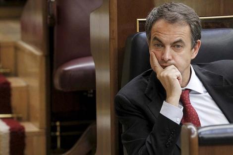 Zapatero Pensive in Congress