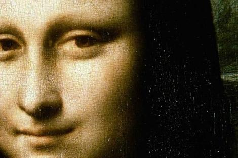 Un detalle de la 'Mona Lisa' de Leonardo.