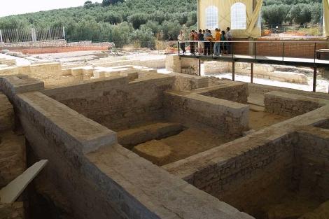Algunas de las estancias de la villa de Fuente Álamo que se exhiben. | Rep. Gráfico: M. Cubero