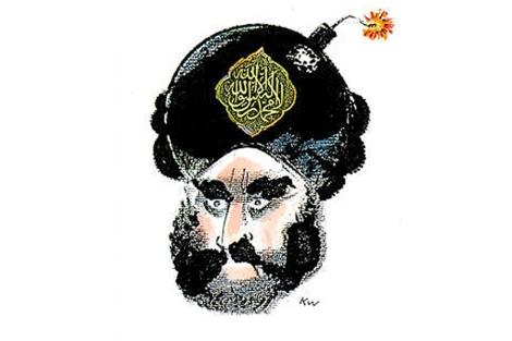 Polémica caricatura de Mohamed por Kurt Westergaard. | Jyllands-Posten