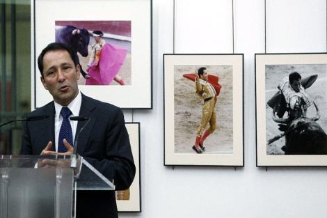 Rincón, durante el acto en Las Ventas. | El Mundo