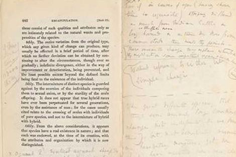 Anotaciones de Darwin en 'Los principios de Geología de Lyell'. | Universidad de Cambridge