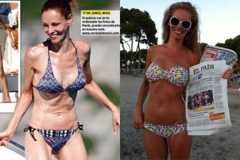 A la izquierda la foto de la revista 'In Touch' y a la derecha la que muestra Vázquez. | Foto: 'In Touch' | Twitter.