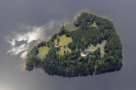 Utoya, la isla desde donde Julie Bremmes le contó su pesadilla a su madre.   Ap