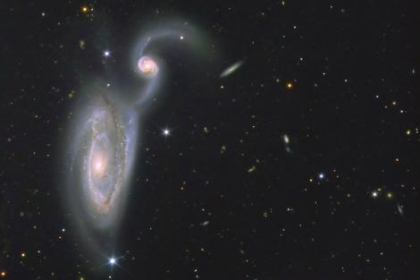 Las galaxias Arp84 captadas desde el Gran Telescopio de Canarias.|Alex Cherney