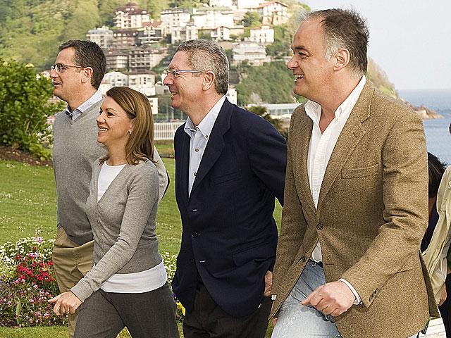 Basagoiti, Cospedal, Gallardón y Pons, en San Sebastián. | Tarek/PP