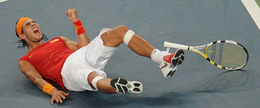 Nadal celebra su victoria sobre Fernando González en la final. (Foto: AFP)