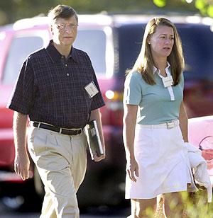 Bill Gates junto a su mujer Melinda. (Foto: AP)