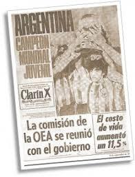 Portada de 'Clarín'.