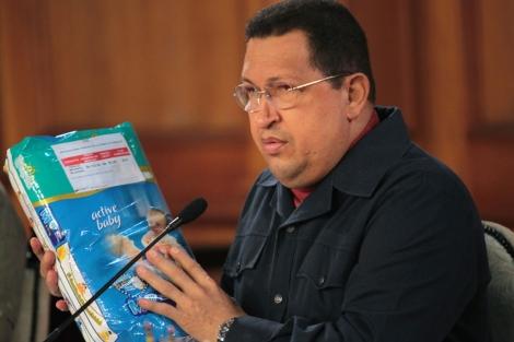 Imagen del Hugo Chávez del 31 de marzo de 2012 en una rueda de prensa en Miraflores.  Efe