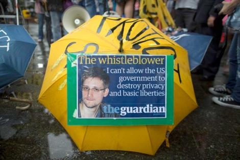Una manifestación de apoyo a Snowden tras sus primeras revelaciones.| Efe