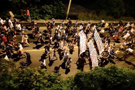 Protestas en la favela Rocinha.| Afp