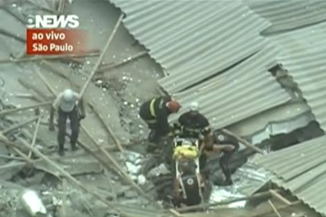 Imágenes del derrumbe de un edificio en Sao Paulo   Globo.com