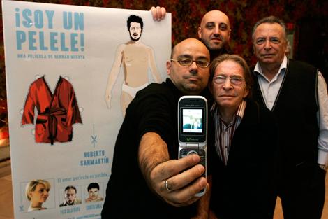 Hernán Migoya (centro) con Jordi Ordóñez y los hermanos Calatrava.   D. Sinova