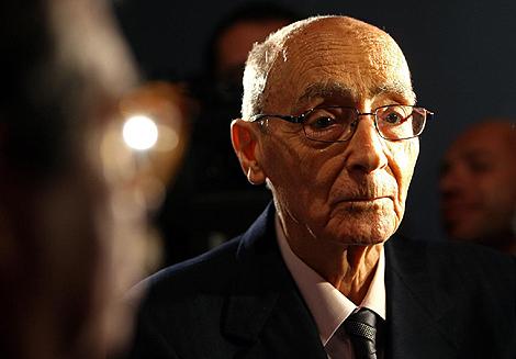 El escritor José Saramago en una presentación en Lisboa el pasado año.   Afp