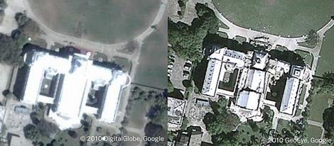 El antes y después del palacio presidencial.  www.readwriteweb.com