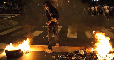 Protestas en Caracas contra el presidente de Venezuela, Hugo Chávez. | Reuters