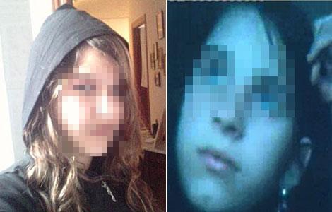 La presunta asesina (izda.) y Cristina Martín, en dos imágenes colgadas en Facebook.