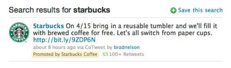 Aspecto que tendrán los 'tweets' patrocinados una vez que entre en funcionamiento el sistema.