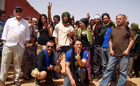 Foto de familia de los actores que participaron en la edición de 2009.