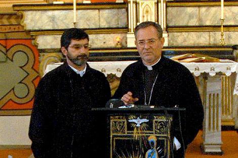 Luigi Padovese, a la derecha, en una imagen de archivo. | Efe