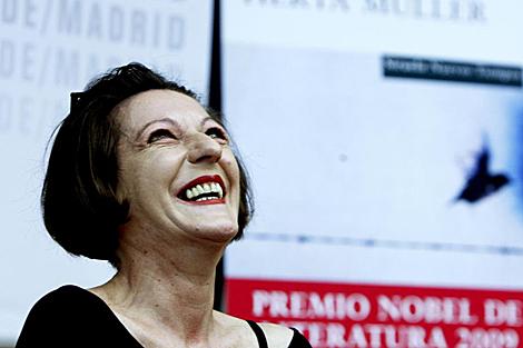 Herta Müller, hoy, en Madrid. | Efe