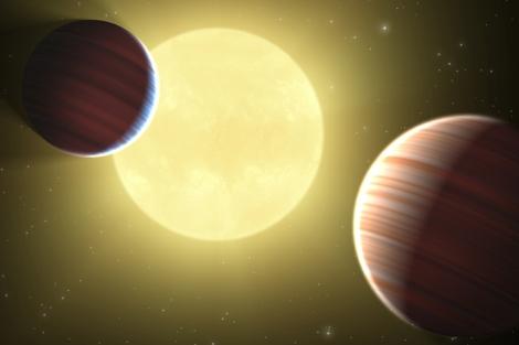 Ilustración de los dos planetas descubiertos por Kepler. | NASA