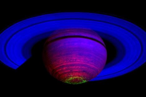 Imagen captada por la sonda Cassini. | AP