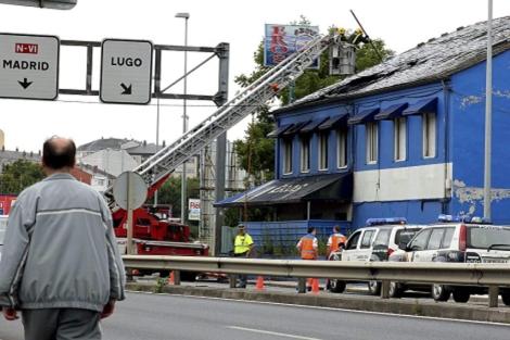 Uno de los incendios del local, el pasado 19 de julio. | Efe