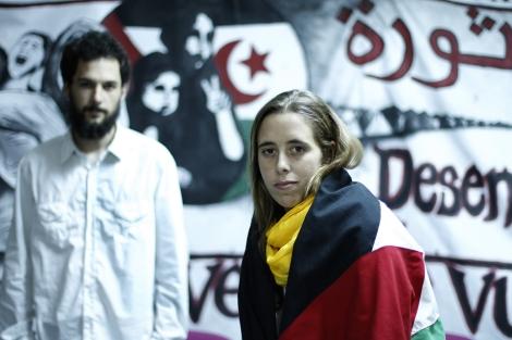 Silvia García y Javier Sopeña tras su regreso de El-Alaiún. | Javier Barbancho