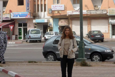 La periodista Ana Romero, en el Aaiún.