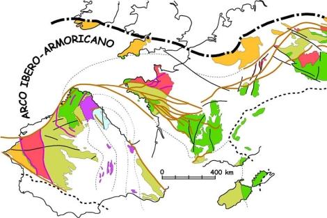 Gráfico sobre la formación de la Península Ibérica.  Divulga
