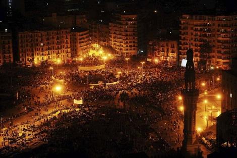 Detractores del régimen reunidos por décima noche consecutiva en El Cairo. | Efe
