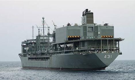 Un buque de guerra iraní.